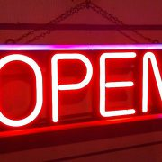 Sign saying 'open'