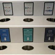 Improved labels on recycling bins