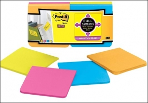Full-adhesive sticky notes